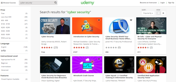 udemy cyber security courses