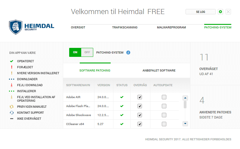 Heimdal FREE Patching-System