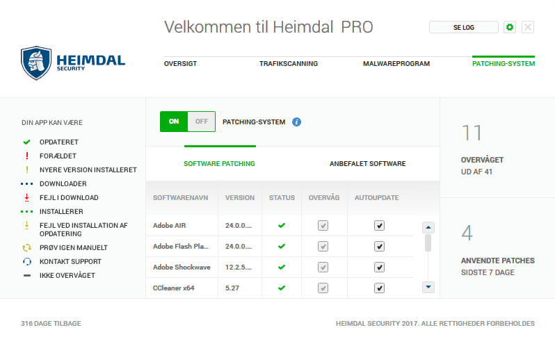 Heimdal PRO Patching-System