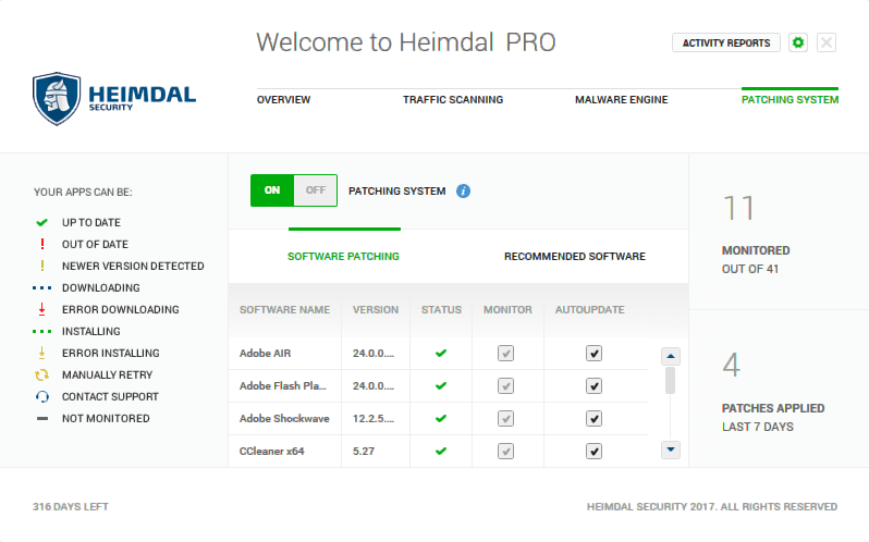 Heimdal PRO patching system