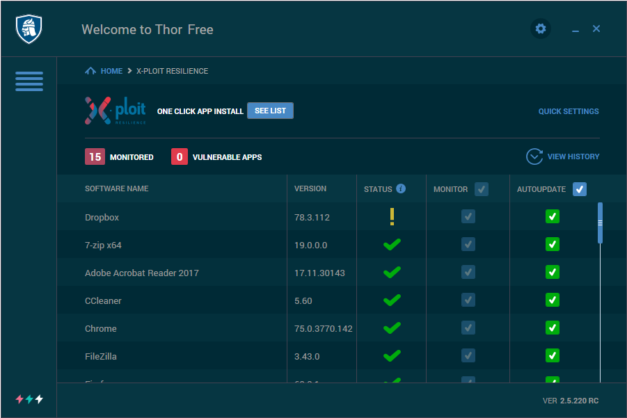 THOR FREE Software Updater | Automatic software updates